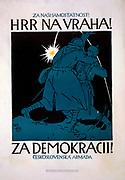 Czechoslovak Propaganda posterbin World War I. 1918