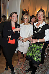 Left to right, SARAH WHITEHEAD, EMILY MAITLIS and STEPHANIE FLANDERS at a reception for Women in Media hosted by the Prime Minister David Cameron at 10 Downing Street, London on16th May 2013.