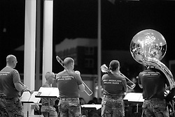 Members of the Fort Dixieland Brass Band perform at the bandstand on Rehoboth Avenue in Rehoboth Beach, Del., Sunday, Aug. 18, 2019. (Photo by D. Ross Cameron)