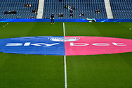 Skybet and EFL branding on the pitch during the EFL Sky Bet Championship match between West Bromwich Albion and Sheffield United at The Hawthorns, West Bromwich, England on 23 February 2019.