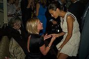 MARIELLA FROSTRUP AND THANDIE NEWTON, Pre Bafta dinner hosted by Charles Finch and Chanel. Mark's Club. Charles St. London. 9 February 2008.  *** Local Caption *** -DO NOT ARCHIVE-© Copyright Photograph by Dafydd Jones. 248 Clapham Rd. London SW9 0PZ. Tel 0207 820 0771. www.dafjones.com.