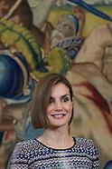 043015 Queen Letizia attends audiences in Madrid
