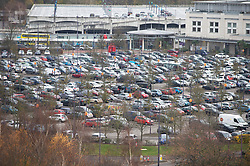 © Licensed to London News Pictures. 02/12/2020. <br /> Greenhithe, UK. Car parks are full at Bluewater Shopping Centre in Greenhithe, Kent this morning as Kent comes out of lockdown and goes into tier three. Photo credit:Grant Falvey/LNP
