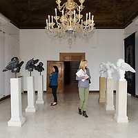 """VENICE, ITALY - JUNE 02:  Works by artist Wolfgang Joop are seen at the exhibition """"Eternal Love"""" at Palazzo Bembo on June 2, 2011 in Venice, Italy."""