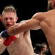 FORT LAUDERDALE, FL - FEBRUARY 15: Jim Alers (R) fights Kaleb Harris during the Bare Knuckle Fighting Championships at Greater Fort Lauderdale Convention Center on February 15, 2020 in Fort Lauderdale, Florida. (Photo by Alex Menendez/Getty Images) *** Local Caption *** Jim Alers; Kaleb Harris