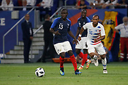 N'Golo Kante of France and Julian Green of USA during the 2018 Friendly Game football match between France and USA on June 9, 2018 at Groupama stadium in Decines-Charpieu near Lyon, France - Photo Romain Biard / Isports / ProSportsImages / DPPI
