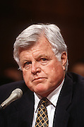 Senator Ted Kennedy in the Senate Intelligence Committee hearing on the nomination of Anthony Lake as Director of the CIA March 11, 1997.