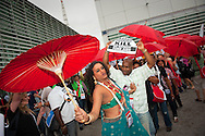 Austria, Vienna. XVIII International AIDS Conference 2010. Opening Ceremony.Photo shows:  Protesters..©IAS/Steve Forrest/Workers' Photos