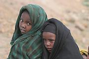 Africa, northern Ethiopia, Lalibela, two local young girls