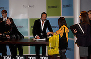 Tom Ford signing books, Tom Ford at Selfridges  to launch his book. 11 November 2004. ONE TIME USE ONLY - DO NOT ARCHIVE  © Copyright Photograph by Dafydd Jones 66 Stockwell Park Rd. London SW9 0DA Tel 020 7733 0108 www.dafjones.com