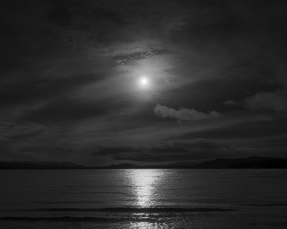 Sun over Marsh Lake, YT