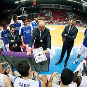 Anadolu Efes's Coach Dusan Ivkovic during their Turkish Basketball League match Anadolu Efes between Trabzonspor at Abdi Ipekci Arena in Istanbul Turkey on Sunday 19 October 2014. Photo by Aykut AKICI/TURKPIX