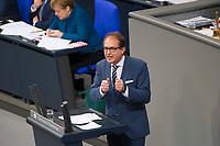 DEU, Deutschland, Germany, Berlin, 21.11.2018: Alexander Dobrindt, Vorsitzender der CSU im Bundestag, bei einer Rede während einer Plenarsitzung im Deutschen Bundestag.