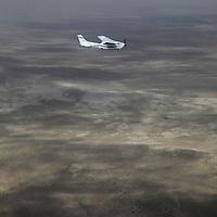 Africa, Namibia, Erongo. Flying over the coastal Namib Desert in Erongo.