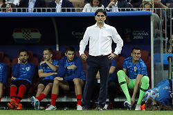 coach Zlatko Dalic of Croatia during the 2018 FIFA World Cup Russia Semi Final match between Croatia and England at the Luzhniki Stadium on July 01, 2018 in Moscow, Russia