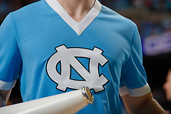 CHAPEL HILL, NC - FEBRUARY 25: A cheerleader for the North Carolina Tar Heels cheers during a game against the North Carolina State Wolfpack on February 25, 2020 at the Dean Smith Center in Chapel Hill, North Carolina. North Carolina won 79-85. (Photo by Peyton Williams/UNC/Getty Images)
