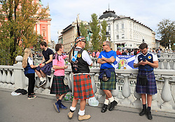 Scotland fans settle in Ljubljana before the game during the 2018 FIFA World Cup Qualifying Group F match at Stadion Stozice, Ljubljana.