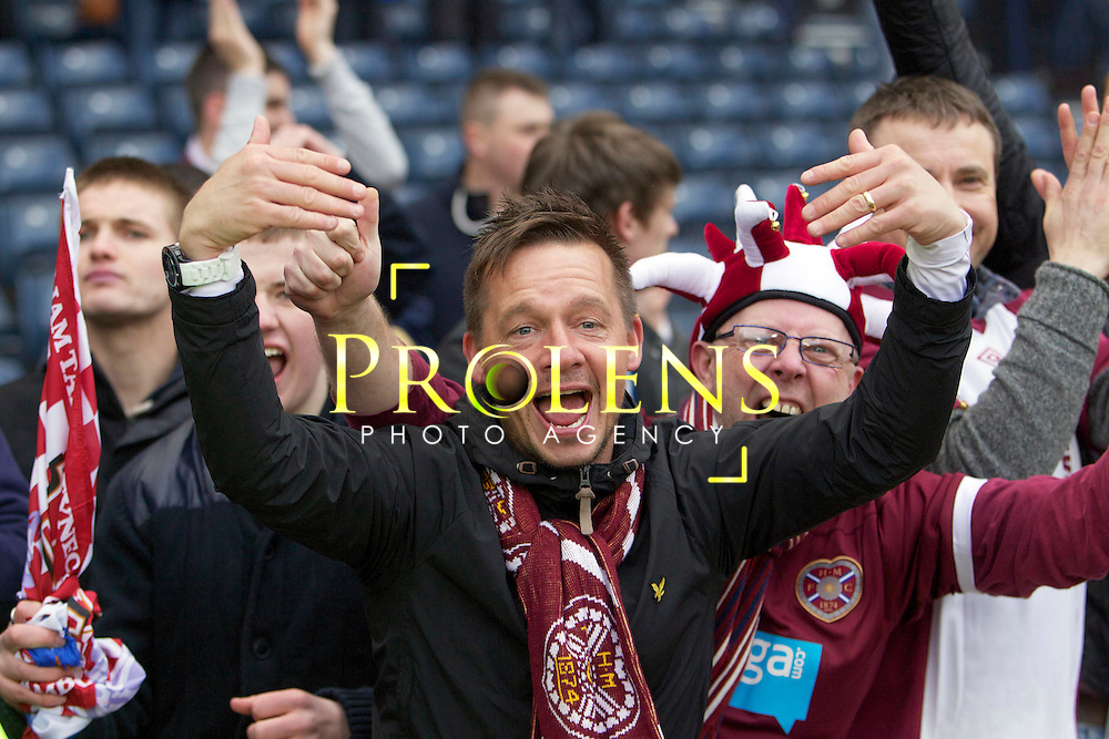 William Hill Scottish FA Cup Semi Final CELTIC FC v HEART OF MIDLOTHIAN FC Season 2011-12.15-04-12...Hearts youth coach Darren Murray celebrates at full time during the William Hill Scottish FA Cup Semi Final tie between CELTIC FC and HEART OF MIDLOTHIAN FC with the Winner facing   in this years Scottish Cup Final in May...At Hampden Park Stadium , Glasgow..Sunday 15th April 2012.Picture Mark Davison/ Prolens Photo Agency / PLPA