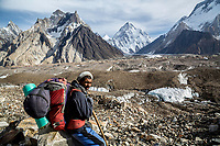 Hussain Takes a Rest, with K2 and Concordia Behind