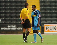Photo: Leigh Quinnell.<br /> Notts County v Wycombe Wanderers. Coca Cola League 2. 12/08/2006. Wycombes Anthony Grant walks off after being sent off by referee D. Deadman.