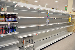 EXCLUSIVE: Florida scrambles to prepare for Extreme Category 5 Hurricane Irma after it crashes into the Caribbean, on September 6, 2017 in Fort Lauderdale, Florida. Hurricane Irma has grown to a category 5 storm and is expected to make landfall in the Florida Keys this weekend. As South Florida attempt to prepare for the storm their finding gas stations out of gas and the shelves filled with water, bread, paper goods, ply wood, ice, batteries all gone and the shelves are empty, days before the storm is set to hit Florida. 06 Sep 2017 Pictured: Florida Prepares for Hurricane Irma. Photo credit: MPI04/Capital Pictures / MEGA TheMegaAgency.com +1 888 505 6342