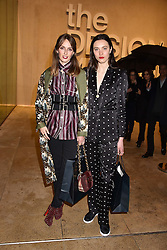 Left to right, Lady Alice Manners and Matilda Lowther at the Range Rover Velar Global Reveal at The Design Museum, London England. 1 March 2017.