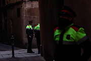 """December 21, 2018 - Barcelona, Catalonia, Espana - The decision of Spanish Prime Minister Pedro Sánchez of the governing Socialist Party (PSOE) to hold a Cabinet meeting in Barcelona has angered many pro-independence groups, who see the move as a """"provocation."""" The date coincides with the first anniversary of the December 21 regional elections, which were called by the central government of then-Popular Party (PP) Prime Minister Mariano Rajoy after the region's powers were suspended under Article 155 of the Constitution...Protesters are also calling for Catalan independence leaders to be released from prison, where they are in pre-trial detention for their involvement in last year's unauthorized referendum and subsequent unilateral declaration of independence. (Credit Image: © Vedat Xhymshiti/ZUMA Wire)"""
