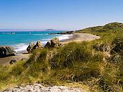 Looking WNW from near Howell's Point/Taramea across Colac Bay/Oraka, near Riverton/Aparima, Southland, New Zealand
