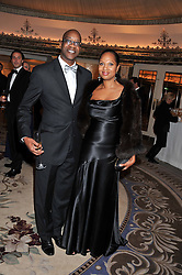 ED MOSES and his wife MYRELLA at the 21st Cartier Racing Awards held at The Dorchester, Park Lane, London on 15th November 2011.