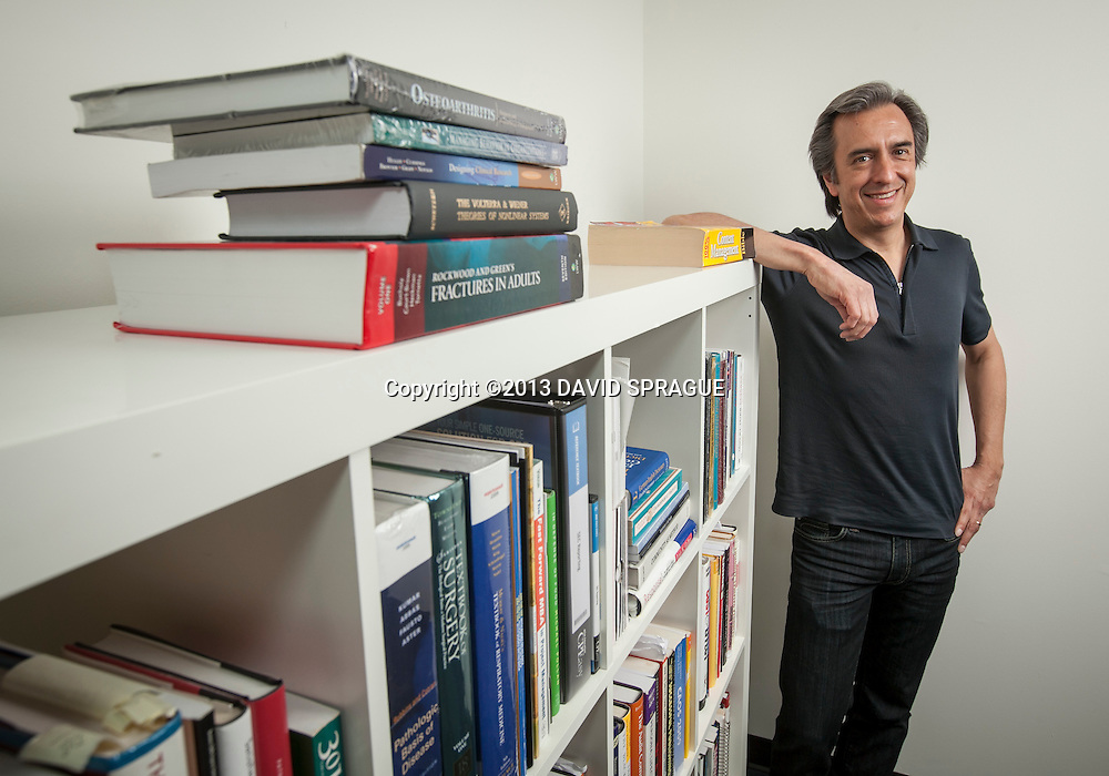 Peter Derycz, CEO of Derycz Scientific in his offices in Encino. His company manages the copyrights of articles in scientific journals. Shot March 1,  2013 Photo by David Sprague ©2013