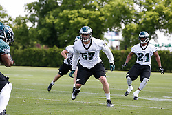 Philadelphia Eagles linebacker Travis Long #57 during the NFL football rookie camp at the teams practice facility on Saturday, May 17, 2014. (Photo by Brian Garfinkel)