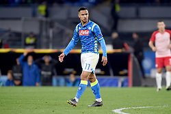 March 7, 2019 - Naples, Naples, Italy - Adam Ounas of SSC Napoli during the UEFA Europa League match between SSC Napoli and RB Salzburg at Stadio San Paolo Naples Italy on 7 March 2019. (Credit Image: © Franco Romano/NurPhoto via ZUMA Press)