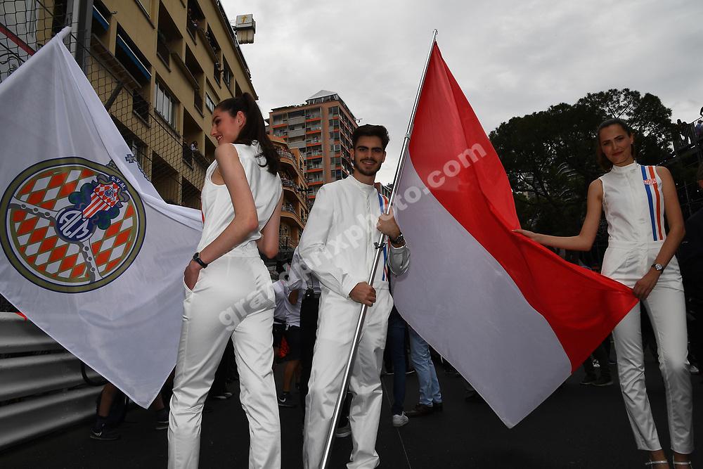 Grid girls and boys before the 2019 Monaco Grand Prix. Photo: Grand Prix Photo