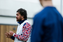 Steven Luatua of Bristol Bears in action during a training session - Rogan/JMP - 04/03/2021 - RUGBY UNION - Bristol Bears High Performance Centre - Bristol, England.