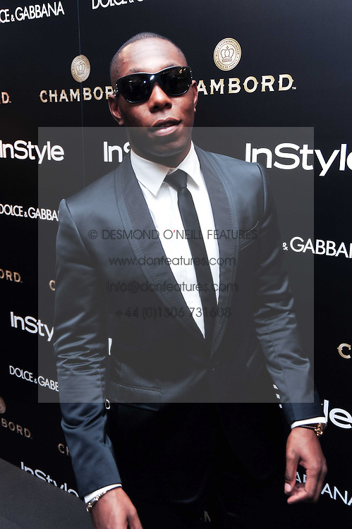 DIZZEE RASCAL at a party hosted by InStyle to celebrate the iconic glamour of Dolce & Gabbana held at D&G, 6 Old Bond Street, London on 3rd November 2010.