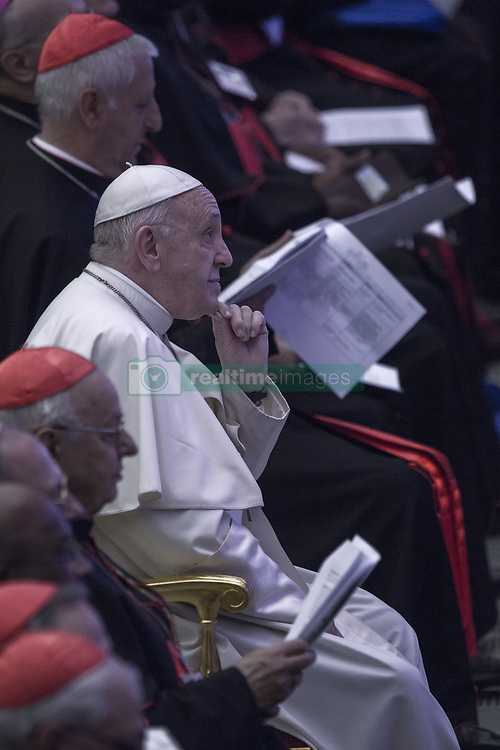 Vatican, Rome - October 6, 2018.Pope Francis during a meeting with the youth and the Synod Fathers at the Paul VI Hall in Vatican on October 6, 2018 (Credit Image: © Maria Grazia Picciarella/Ropi via ZUMA Press)
