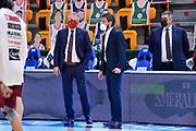 Massimo Galli, Gianmarco Pozzecco<br /> Banco di Sardegna Dinamo Sassari - Umana Reyer Venezia<br /> Legabasket LBA Serie A UnipolSai 2020-2021<br /> Sassari, 27/02/2021<br /> Foto L.Canu / Ciamillo-Castoria
