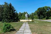 Statue of Lenin, Pripyat, abandoned residential city that supplied Chernobyl