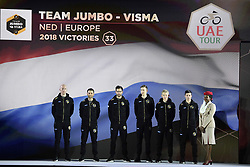 February 23, 2019 - Abu Dhabi - Foto LaPresse - Fabio Ferrari.23 Febbraio 2019 Abu Dhabi (Emirati Arabi Uniti).Sport Ciclismo.UAE Tour 2019 - Presentazione squadre.Nella foto: Team Jumbo Visma..Photo LaPresse - Fabio Ferrari.February 23, 2019 Abu Dhabi (United Arab Emirates) .Sport Cycling.UAE Tour 2019 - Team presentation.In the pic: Team Jumbo Visma (Credit Image: © Fabio Ferrari/Lapresse via ZUMA Press)