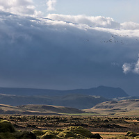 The changing weather brings up some nice landscape sceneries as we are driving to Laufskálavarða.