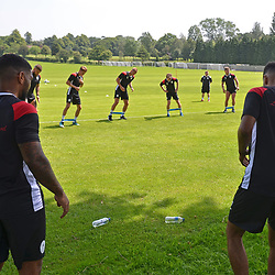 AFC Telford United return to pre-season training at Lilleshall National Sports Centre on Saturday, June 29, 2019.<br /> <br /> Free for editorial use only<br /> Picture credit: Mike Sheridan/Ultrapress<br /> <br /> MS201920-003