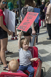 June 3, 2017 - Detroit, Michigan, U.S. - Detroit, Michigan - Several hundred people joined a ''March for Truth'' to demand an impartial investigation of the Trump Administration's ties to Russia. (Credit Image: © Jim West via ZUMA Wire)