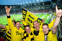 Fans of Borussia Dortmund prior to the football match between WAC Wolfsberg (AUT) and  Borussia Dortmund (GER) in First leg of Third qualifying round of UEFA Europa League 2015/16, on July 30, 2015 in Wörthersee Stadion, Klagenfurt, Austria. Photo by Vid Ponikvar / Sportida