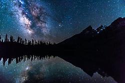 Milky at String Lake below the Teton Range in Grand Teton National Par,