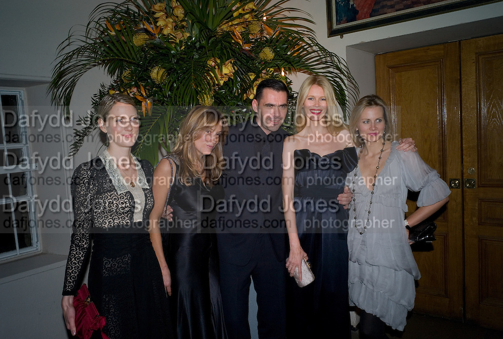 EMILY DYSON; EMILY OPPENHEIMER; ROLAND MOURET; CLAUDIA SCHIFFER; JANE GOTTSCHALK. Chaos Point: Vivienne Westwood Gold Label Collection performance art catwalk show and auction in aid of the NSPCC. Banqueting House. London. 18 November 2008<br /> *** Local Caption *** -DO NOT ARCHIVE -Copyright Photograph by Dafydd Jones. 248 Clapham Rd. London SW9 0PZ. Tel 0207 820 0771. www.dafjones.com