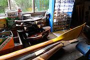 Grunau, GERMANY, Work bench in boathouse.  around the Grunau Olympic [1936] Rowing Course,  Thursday,  15/05/2008   [Mandatory Credit Peter Spurrier/ Intersport Images] Berlin,Grunau Equipment