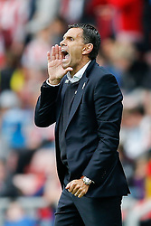Manager Gustavo Poyet of Sunderland shouts - Photo mandatory by-line: Rogan Thomson/JMP - 07966 386802 - 27/08/2014 - SPORT - FOOTBALL - Sunderland, England - Stadium of Light - Sunderland v Swansea City - Barclays Premier League.