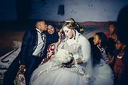 Visiting their grandmothers before their wedding night, a Nubian wedding in Seheil Island