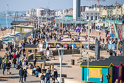 © Licensed to London News Pictures. 27/02/2021. Brighton, UK. People can be seen enjoying the milder weather in Brighton and Hove by spending time on the beach. Photo credit: Hugo Michiels/LNP