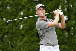 June 22, 2018 - Cromwell, Connecticut, United States - Webb Simpson tees off the 9th hole during the second round of the Travelers Championship at TPC River Highlands. (Credit Image: © Debby Wong via ZUMA Wire)